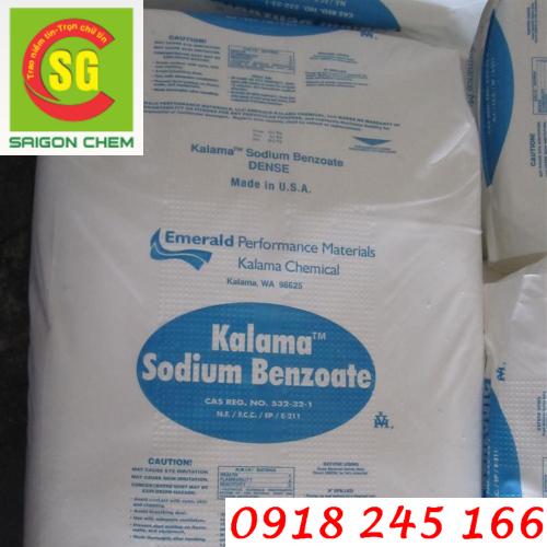 chất bảo quản sodium benzoate kalama mỹ
