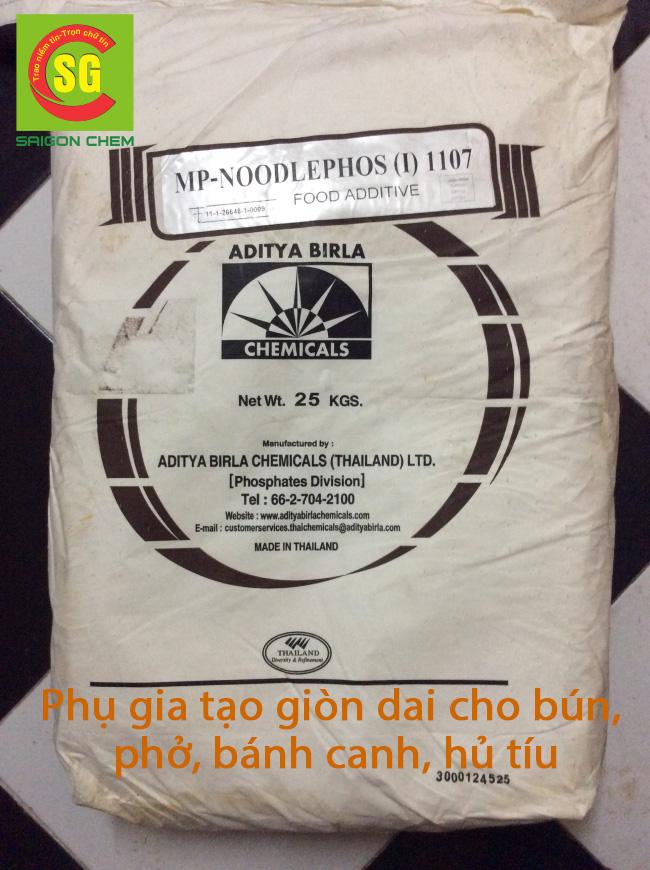 Phụ gia tạo giỏn dai trong mì sản phẩm bún bánh phở bánh canh