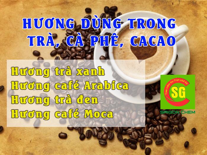 hương dùng trong trà cà phê cacao